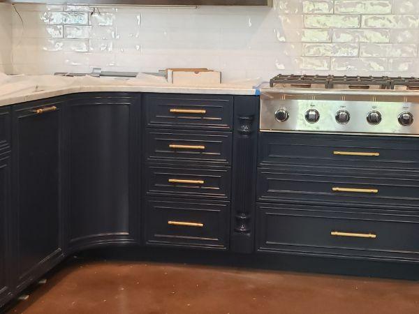Naval Colored Kitchen Custom Cabinets in San Antonio, TX ...